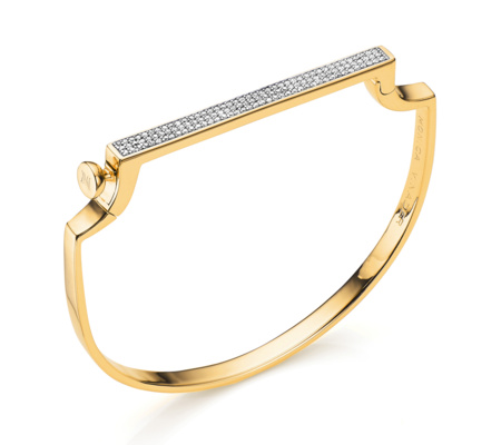 Gold Signature Thin Bangle Diamond