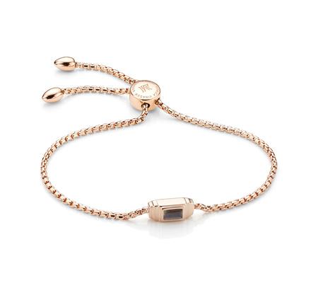 Rose Gold Baja Deco Bracelet Labradorite