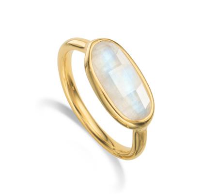 Vega Moonstone Ring, Gold Vermeil on Silver