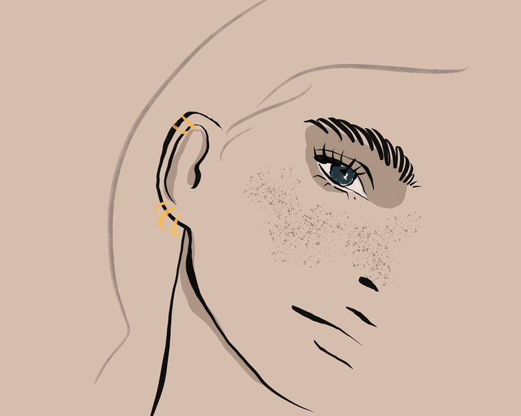 our beautiful illustration displays the different ear piercing types
