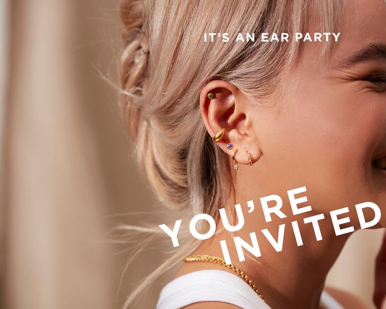 get your ears pierced at Monica Vinader's studio