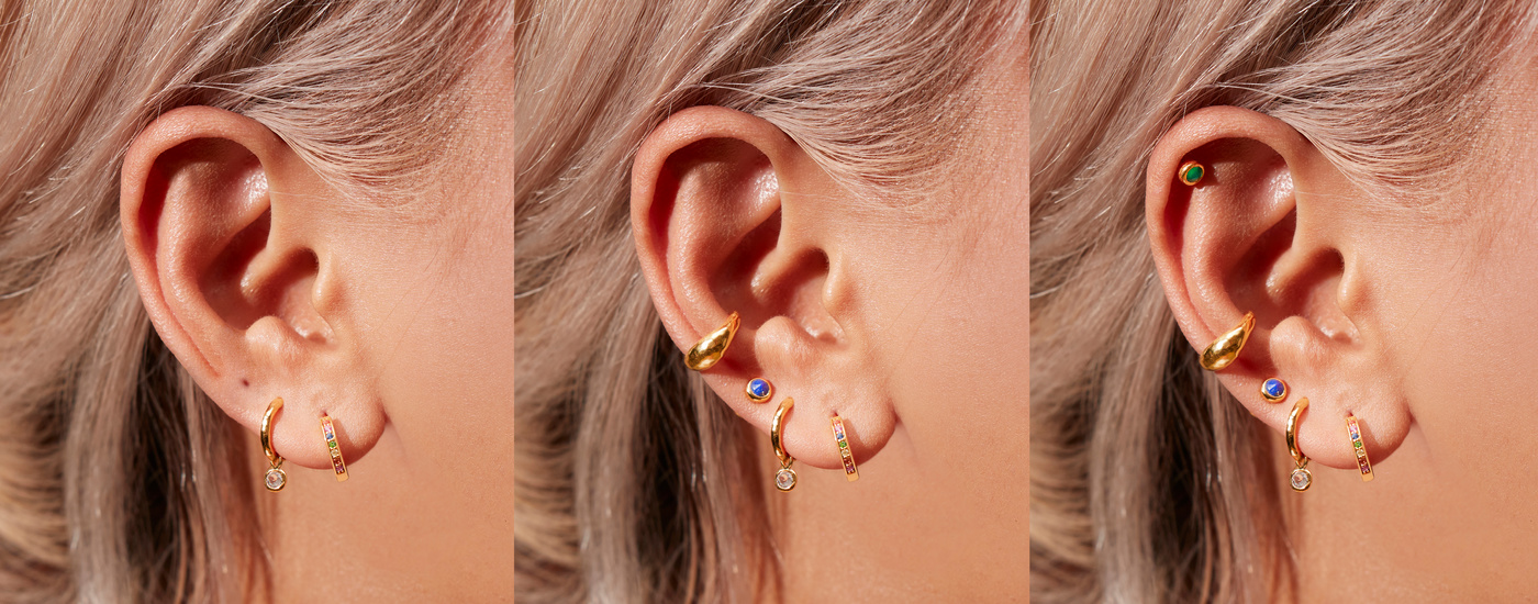 stacking earrings