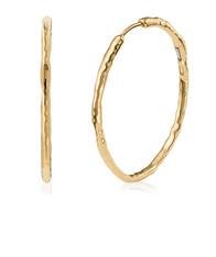 Monica Vinader Gold Siren Muse Large Hoop Earrings