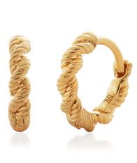 Monica Vinader Gold Corda Huggie Earrings