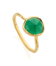 MV Siren Nugget Stacking Ring with Green Onyx