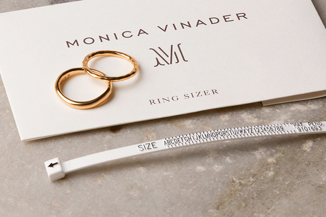 Our Monica Vinader at-home ring sizer