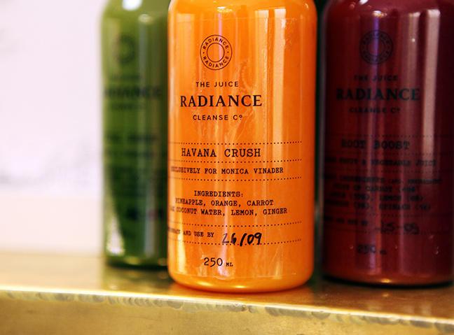 Radiance Cleanse Juices at Monica Vinader