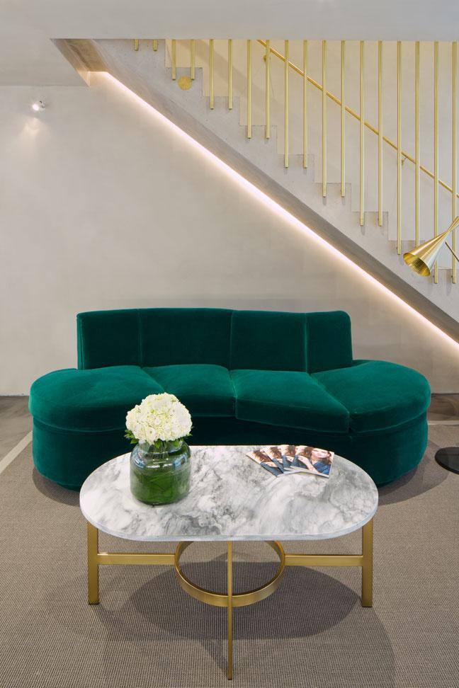emerald green bespoke sofa