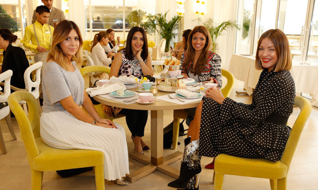 Bloggers and editors at Monica Vinader tea