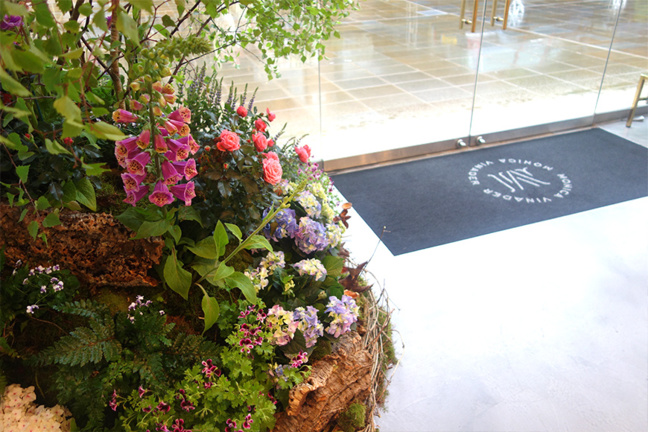 Monica Vinader floral display