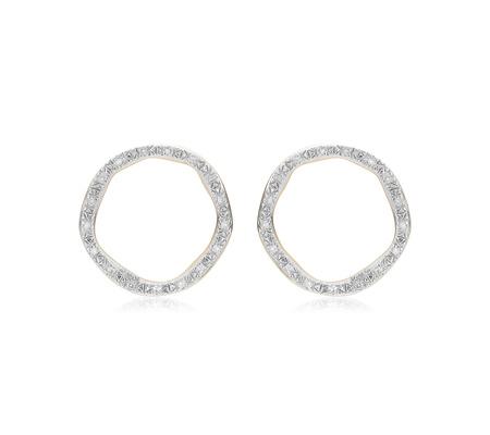Riva Large Circle Stud Diamond Earrings by Monica Vinader