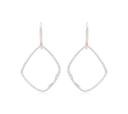 Riva Large Hoop Cocktail Diamond Earrings by Monica Vinader