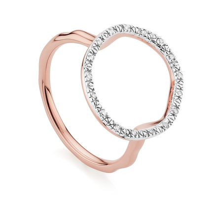 Riva Circle Diamond Ring by Monica Vinader