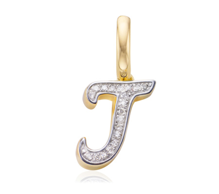Sterling Silver Diamond Alphabet Pendant J Diamond Monica Vinader zL1ByR