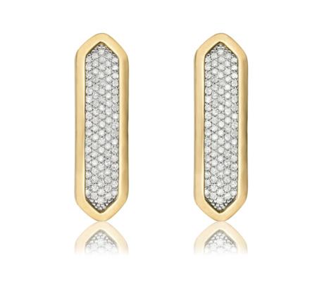 Gold Baja Long Stud Earrings Diamond Monica Vinader aWdz5