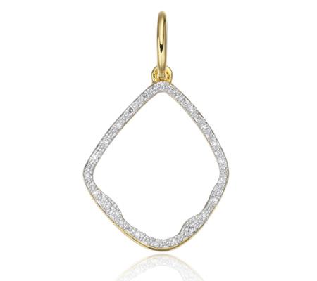 Riva Diamond Hoop Pendant, Sterling Silver Monica Vinader