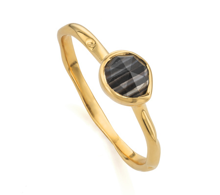 Siren Diamond Small Stacking Ring, Gold Vermeil on Silver Monica Vinader