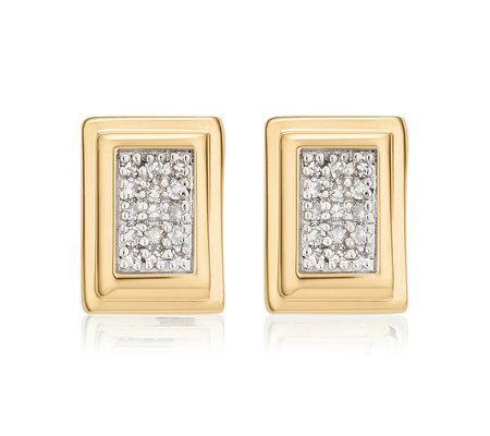 Sterling Silver Baja Deco Stud Diamond Earrings Diamond Monica Vinader yVuMI