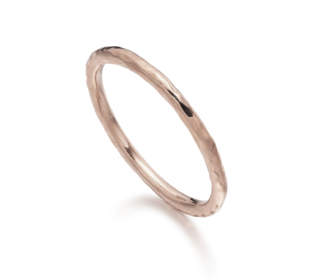 Hammered Ring, Rose Gold Vermeil on Silver Monica Vinader