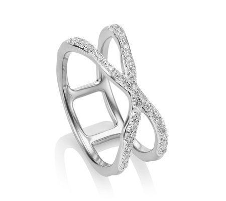Gold Riva Wave Cross Ring Diamond Monica Vinader oIHdIGvO