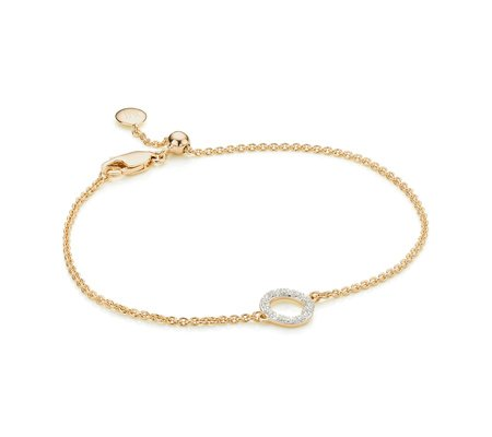 Cheap Wide Range Of Buy Authentic Online Gold Riva Mini Circle Bracelet Diamond Monica Vinader Discount New Styles Clearance Online Fake n0lbRV02Mt