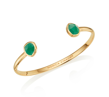 Gold Siren Thin Cuff Green Onyx Monica Vinader Buy For Sale Reliable Sale Online zeUXKxdd