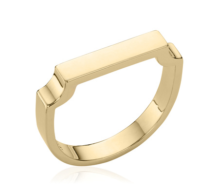 Gold Signature Ring Monica Vinader g1t5NB4Wu
