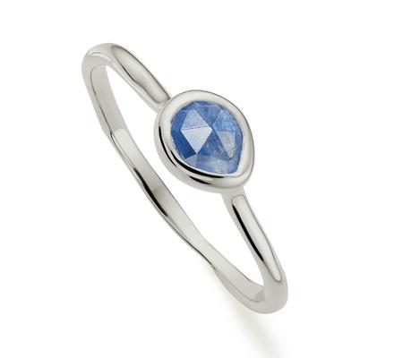 Sterling Silver Siren Small Stacking Ring Kyanite Monica Vinader IyZbcU
