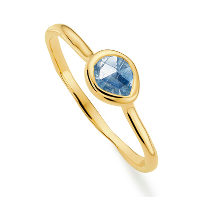 Siren Moonstone Medium Stacking Ring, Gold Vermeil on Silver Monica Vinader