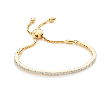 Fiji Pave Bar Petite Bracelet - Diamond, Gold Vermeil on Silver Monica Vinader