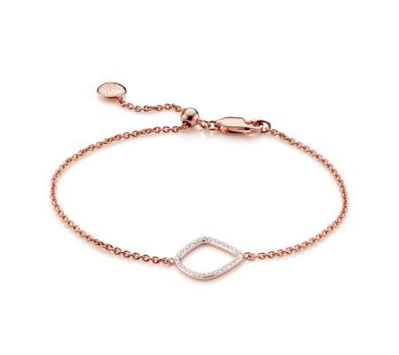 Real Sale Online The Cheapest Sterling Silver Riva Diamond Kite Chain Bracelet Diamond Monica Vinader JmGvwyv