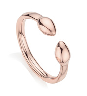 Rose Gold Vermeil Fiji Bud Stacking Ring - Monica Vinader