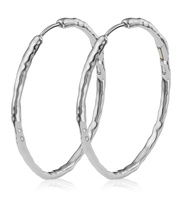 Sterling Silver Siren Muse Large Hoop Earrings - Monica Vinader
