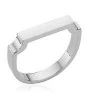 Sterling Silver Signature Ring - Monica Vinader