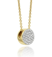 Gold Vermeil Fiji Button Necklace - Diamond - Monica Vinader