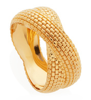 Gold Vermeil Doina Cross Ring - Monica Vinader