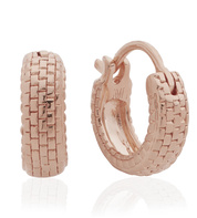 Rose Gold Vermeil Doina Huggie Earrings - Monica Vinader