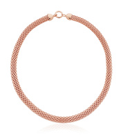 Rose Gold Vermeil Doina Wide Chain Necklace - Monica Vinader