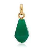 Gold Vermeil Doina Gemstone Pendant Charm - Green Onyx - Monica Vinader