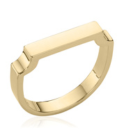 Gold Vermeil Signature Ring - Monica Vinader
