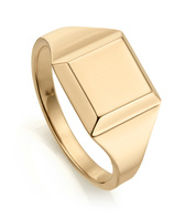 Gold Vermeil Signature Signet Ring - Monica Vinader