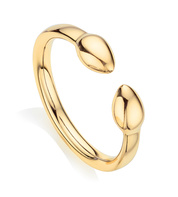 Gold Vermeil Fiji Bud Stacking Ring - Monica Vinader