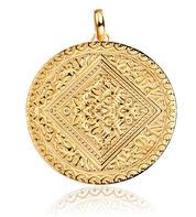 Gold Marie mini pendant charm