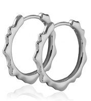 Sterling Silver Siren Muse Small Hoop Earrings - Monica Vinader