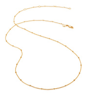 "Gold Vermeil Fine Beaded 21"" - 24"" Chain - Monica Vinader"