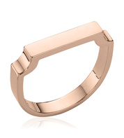 Rose Gold Vermeil Signature Ring - Monica Vinader