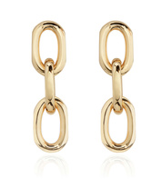 Gold Vermeil Alta Capture Mini Link Earrings - Monica Vinader