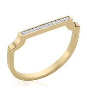 Gold Vermeil Signature Thin Diamond Ring - Diamond - Monica Vinader