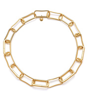 Gold Vermeil Alta Capture Large Link Necklace - Monica Vinader
