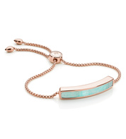 Rose Gold Vermeil Baja Bracelet - Amazonite - Monica Vinader